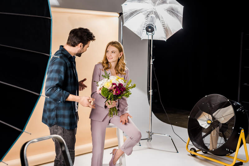Studio photography services
